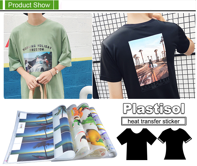 Plastisol Heat Transfer Stickers For T-shirt Manufacturers,Sell High